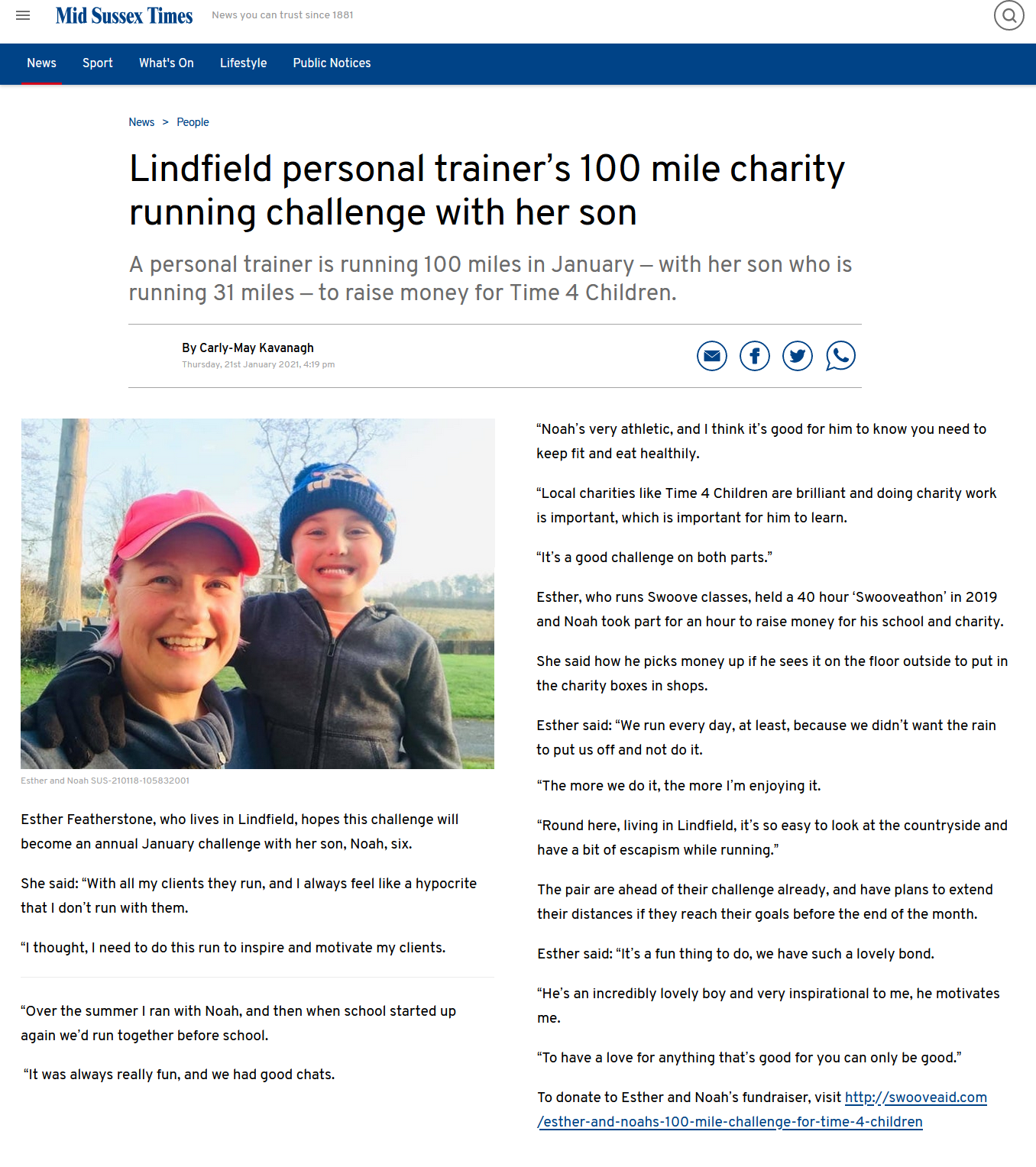 esther-and-noah-100-mile-challenge
