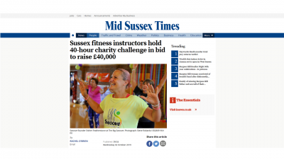 The Big Swoove in the Mid Sussex Times